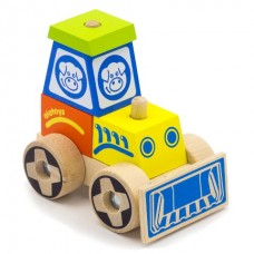 Деревянный конструктор-каталка Трактор малый 12x9.5x7.5 см