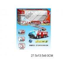Машина пожарная на батарейках, SY756, с водой, световые и звуковые эффекты, в коробке, 27,5*13,5*9 см