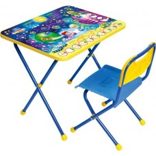 Комплект Ники (стол+стул пластмассовый)  складной КП/8