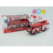 Машина пожарная на батарейках, SD-023D, световые и звуковые эффекты, в коробке, 32*14*11 см