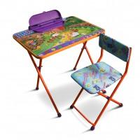 Комплет детской мебели Ферма на оранжевом (стол+ пенал+ стул мягкий)