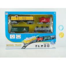 Железная дорога на батарейках, световые и звуковые эффекты, PYF8, в коробке,  69*44*10 см