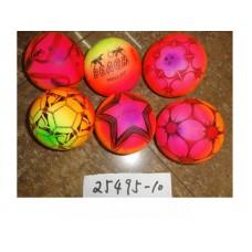 Мяч 15 см 6 цветов 45 гр  25495-10 в пакете