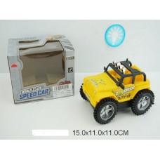 Машина перевертыш на батарейках, со светом, GS-111, в коробке,15*11*11 см