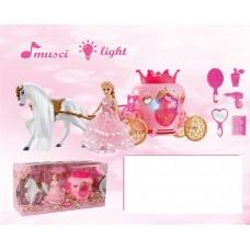 Карета с лошадью световые и звуковые эффекты 2204C в коробке
