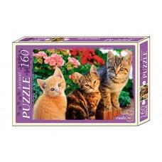 Пазлы 160 элементов Три котёнка