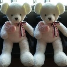 Медведь сердце в лапе, бант на шее, 100 см