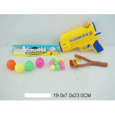Пистолет и рогатка с шарами 609-1 в пакете