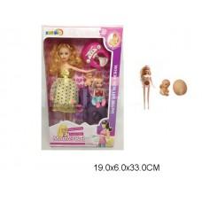 Кукла беременная с пупсом и аксессуарами, 2913, в коробке, 19*6*33 см