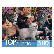 Пазлы 500 эл. Игривые котята TOPpuzzle.