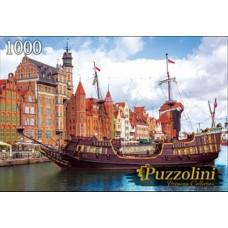 Пазлы 1000 элементов Польша. город гданьск puzzolini.