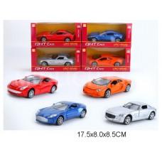 Машина металл 4 вида ML63202L коробка 17,5*8*8,5 см /144шт.//72шт./ [896334]