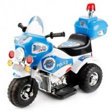 Мотоцикл BUGATTI на аккумуляторе, бело-синий, свет, звук
