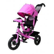 Велосипед 3-х колесный Moby Kids Comfort 12/10 AIR CAR1 надувные колеса цвет лиловый
