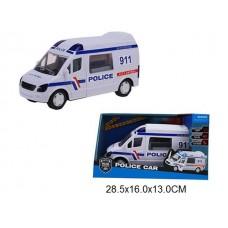 Машина полиция инерционная световые и звуковые эффекты в коробке