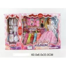 Кукла с платьями и аксессеарами, 083-A2,  в коробке, 28 см